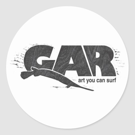 Gar Surfboards Classic Round Sticker