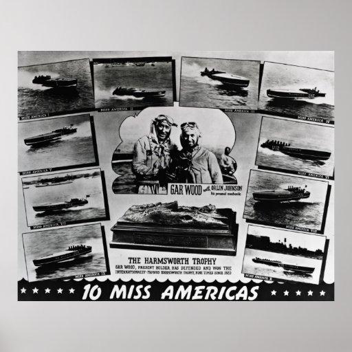 Gar Wood 10 Miss Americas Poster