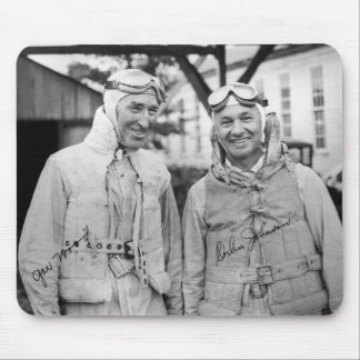 "Gar Wood and Orlin Johnson - Vintage ""Autographed"" Mouse Pad"