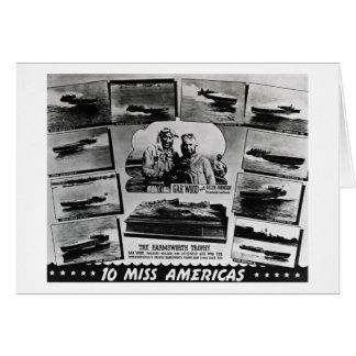 Gar Wood Vintage Speedboat Racing Miss Americas Card
