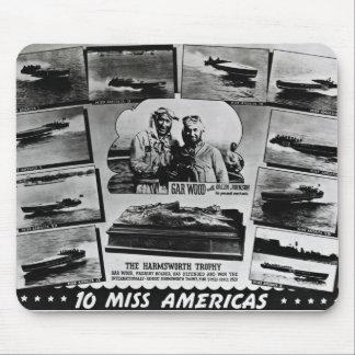 Gar Wood Vintage Speedboat Racing Miss Americas Mouse Pad