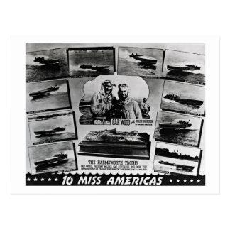 Gar Wood Vintage Speedboat Racing Miss Americas Postcards