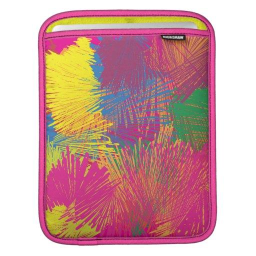 Garabato abstracto colorido funda para iPads