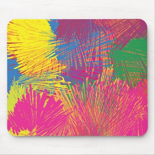 Garabato abstracto colorido tapete de ratones