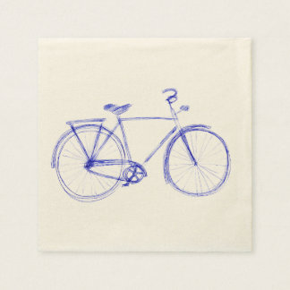 Garabato de la bicicleta servilleta desechable