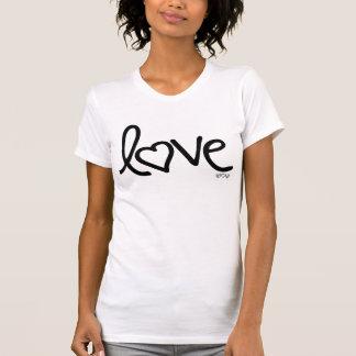 garabato de la tinta del amor camiseta