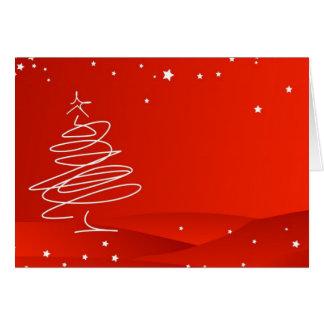 Garabato del árbol de navidad tarjeta de felicitación