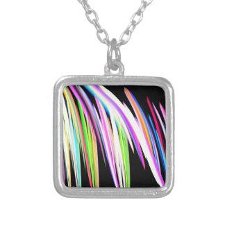 Garabato del arco iris colgante cuadrado