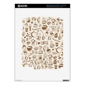 Garabato del café pegatina skin para iPad 3