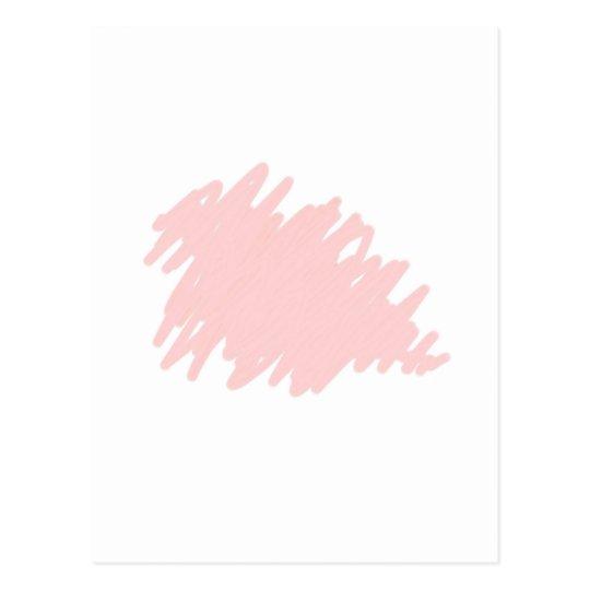 Garabato del rosa de la novia tarjeta postal