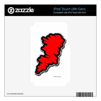 Garabato rojo calcomanías para iPod touch 4G