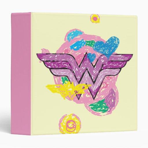 Garabatos coloridos de la Mujer Maravilla