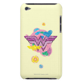 Garabatos coloridos de la Mujer Maravilla Carcasa Para iPod
