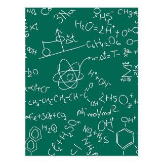 Garabatos de la química tarjetas postales