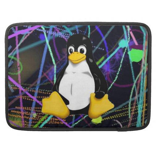 Garabatos de TUX Fundas Para Macbook Pro