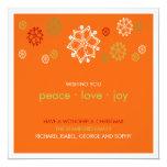 Garabatos del copo de nieve de Yuletide:: Tarjeta Invitación 13,3 Cm X 13,3cm
