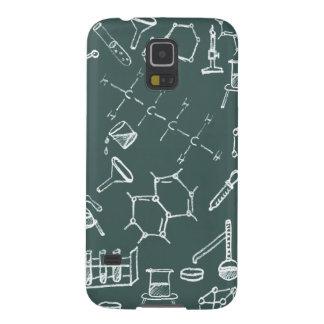 Garabatos químicos del equipo de laboratorio carcasas para galaxy s5