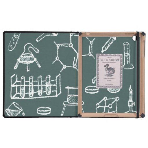 Garabatos químicos del equipo de laboratorio iPad cárcasa