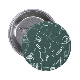 Garabatos químicos del equipo de laboratorio pin redondo de 2 pulgadas