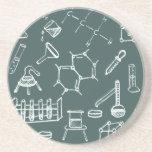 Garabatos químicos del equipo de laboratorio posavasos personalizados