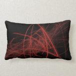 Garabatos rojos en negro almohadas