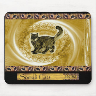 Garabatos somalíes del gato de ICU Alfombrillas De Ratón