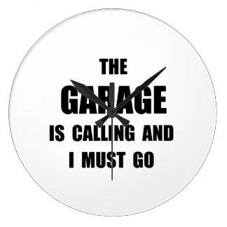 Garage Calling Large Clock