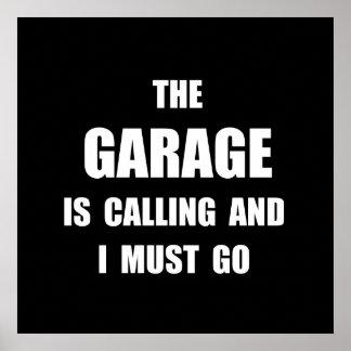 Garage Calling Poster