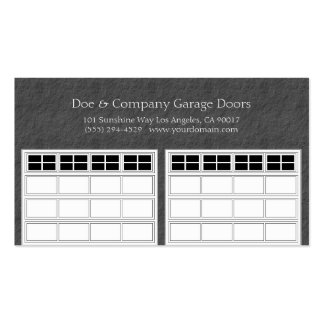 Garage Door Company Dark Grey Double-Sided Standard Business Cards (Pack Of 100)