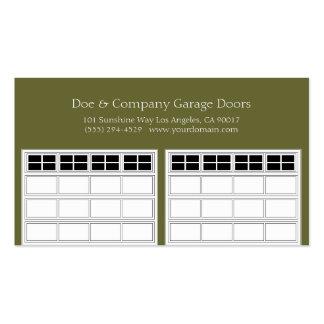 Garage Door Company/Forest Green Business Card