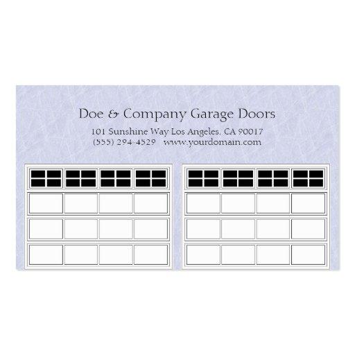 My Garage Door Light Stays On: Garage Door Company Light Blue Business Card