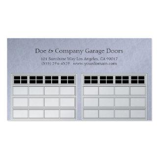 Garage doors business cards templates zazzle for Platinum garage doors