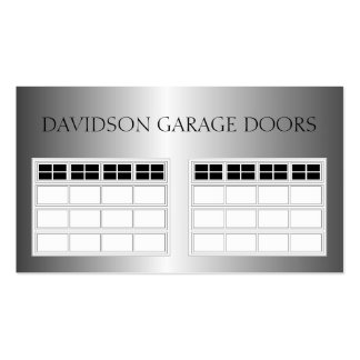 Garage Door Company Metallic Metal Double-Sided Standard Business Cards (Pack Of 100)
