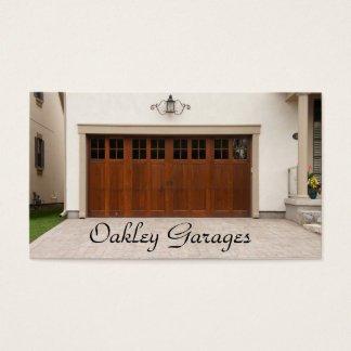 Garage Door Driveway House Contractor Business Card