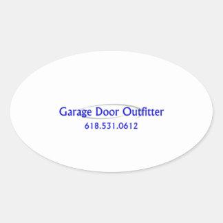 Garage Door Oval Sticker