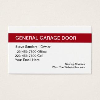 Garage Door Service Business Card