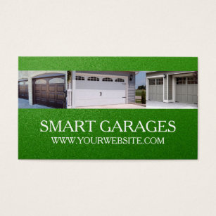 Garage Doors Installation Services Business Card