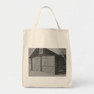 Garage in Snow Tote Bag