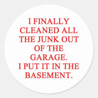GARAGE joke Sticker