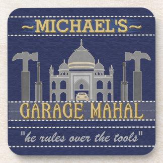 Garage Mahal Funny Man Cave   Custom Name Coaster