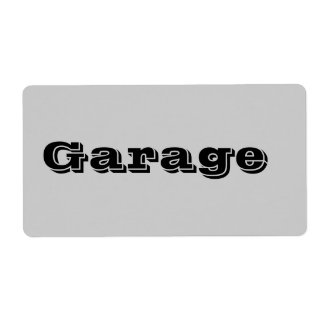 Garage Moving Labels in Gray
