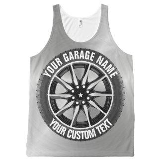 Garage Or Car Repair Owner Car Wheel On Steel All-Over Print Tank Top