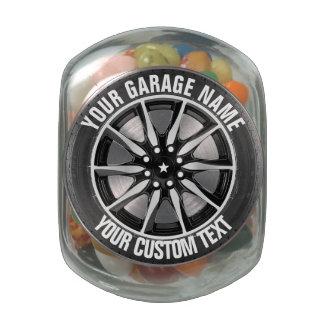 Garage Or Car Repair Service Owner Glass Jar