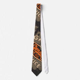Garage Repair Vintage Design Man's Necktie