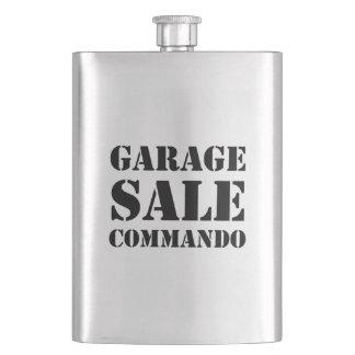 Garage Sale Commando Funny Flask