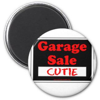Garage Sale Cutie 2 Inch Round Magnet