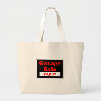 Garage Sale Daddy Large Tote Bag