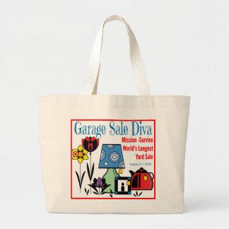 Garage Sale Diva Large Tote Bag