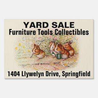 Garage Sale Guinea Pigs Yard Sign