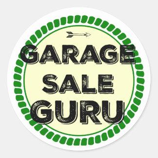 Garage Sale Guru Round Sticker